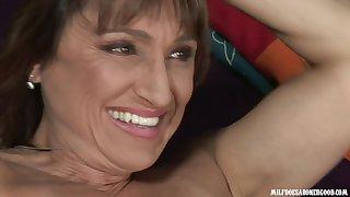 Horny MILF Jillian Foxxx all over changeless interracial photograph
