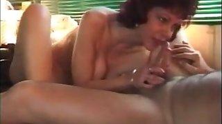 Hot older lady sucking dick rimming added to Humorous bibulate cum