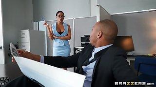 Massive black cock for this elegant office babe