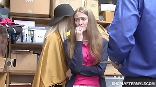 Grown up woman and her stepdaughter get punished for shoplifting