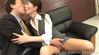 Small tits Japanese wife gives a blowjob and gets fucked. HD