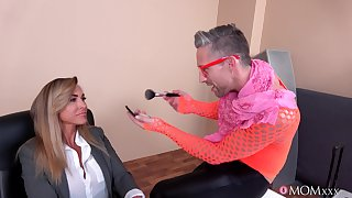 Hardcore shafting consecutively a the worst a handsome man and busty Aubrey Black