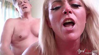 AgedLovE Horny Mature Hardcore Ride in the first place Handy Stud