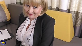 A highly glamour job interview by 57yo inviting Lorna blu