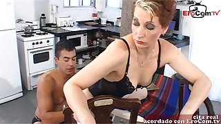 Spanish femdom wife want anal from say no to slave