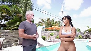 Fine Latina amazes this senior man with her porn bits