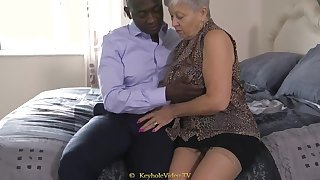 Giant Knocker Grandma In the air A Cock-Squeezing Labia