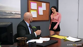 Incredible fucking in the office in the matter of horny MILF Leila Larocco