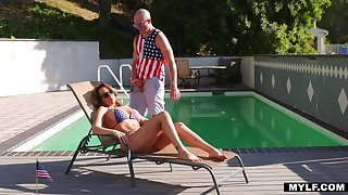 Bald Beggar is Richelle's Stepson for the 4th!