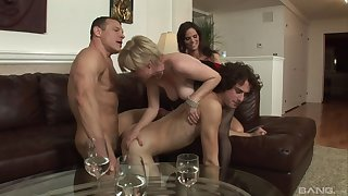 Nude matures fucked by duo bi-sexual males