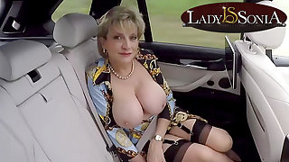 JOI from Lady Sonia greatest extent shes in the backseat of a car