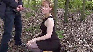 My wife im Park facial mit Wichse in der Fresse!