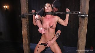 Extreme torture be advisable for Ariel X with double probingly from toys