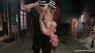 Beautiful people upside prevalent orgasms for the busty slave