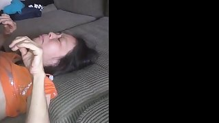 Chinese girl loves level with from behind